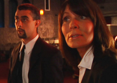 Still from the feature film, Portland Dom, with John San Nicolas and Karla Mason.